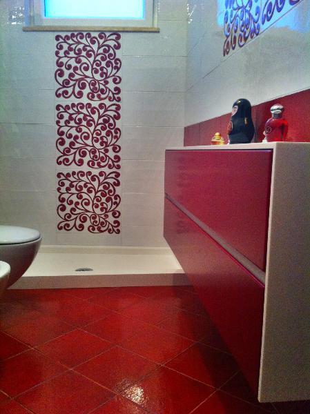 Mobile da bagno in Corian rivestito