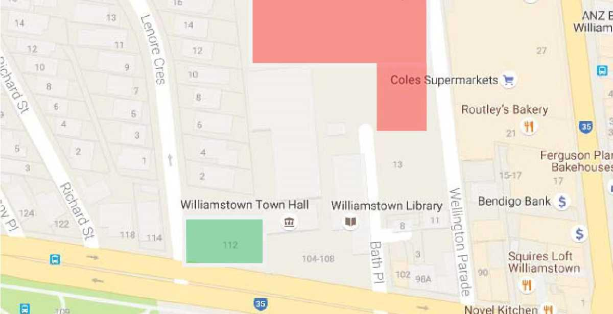Location - Williamstown Town Hall