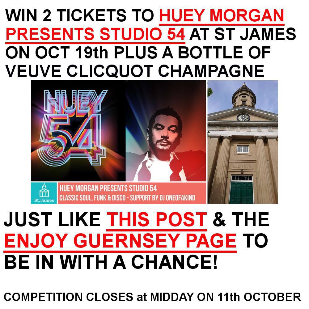 Win 2 tickets to see Huey Morgan at St James & a bottle of bubbly