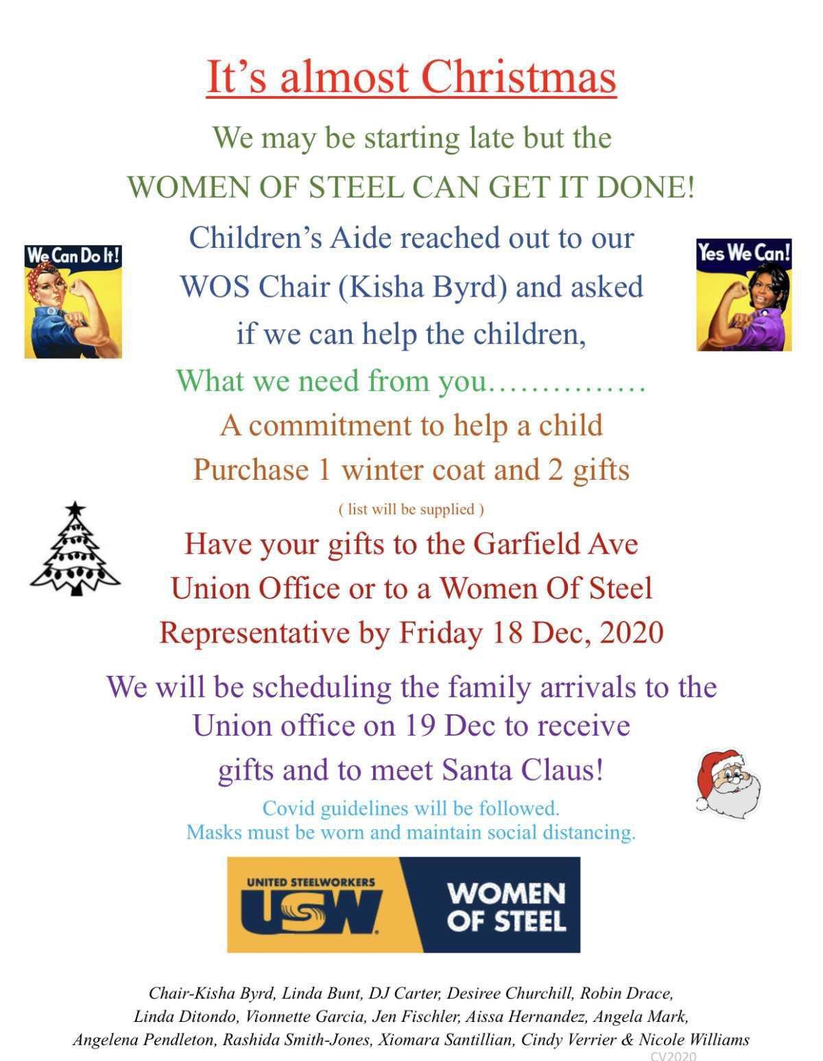 W.O.S Christmas Donations