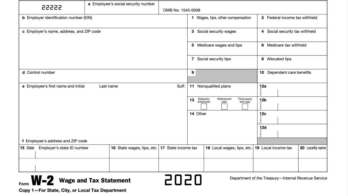 2020 W-2 Forms