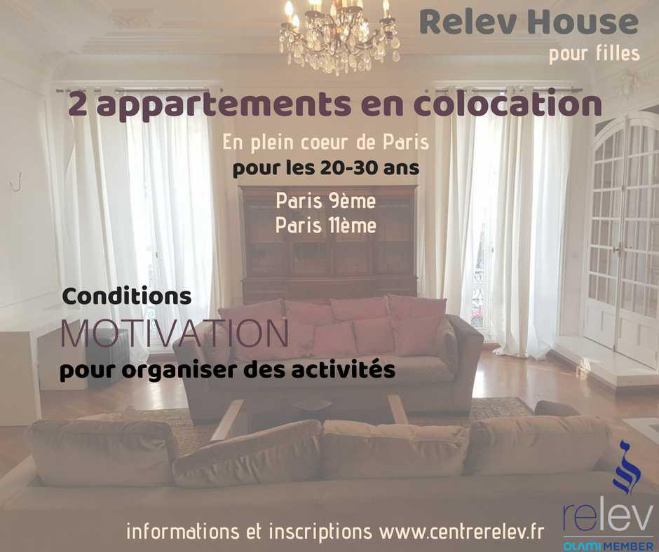 Inscription colocation Relev House