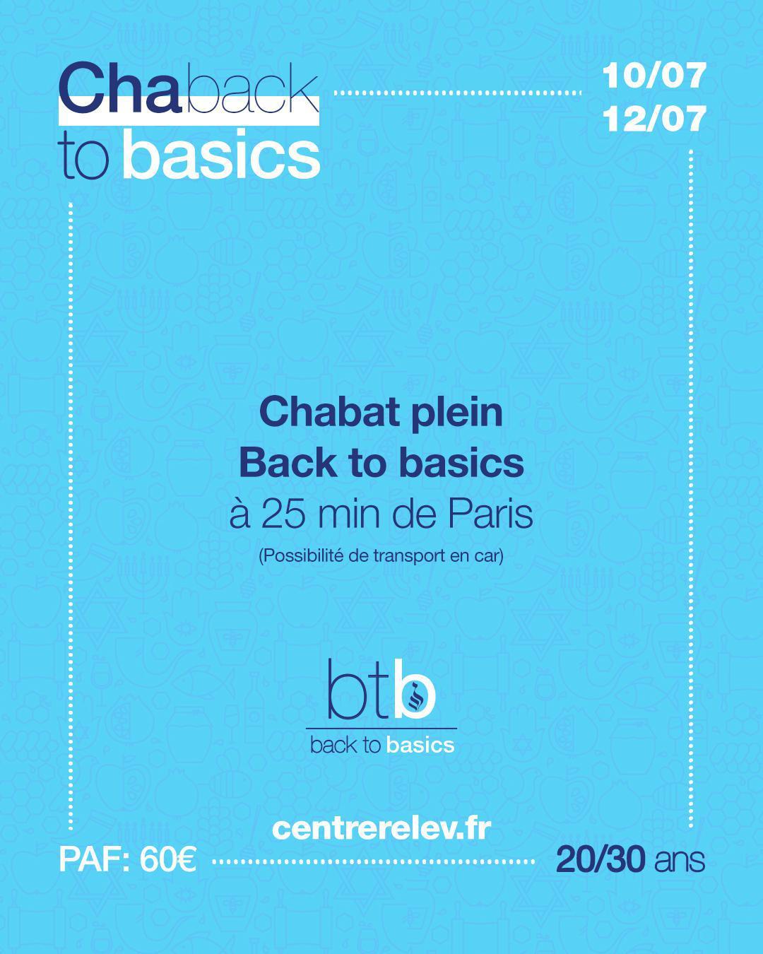 Chaback to basics 10-12/07