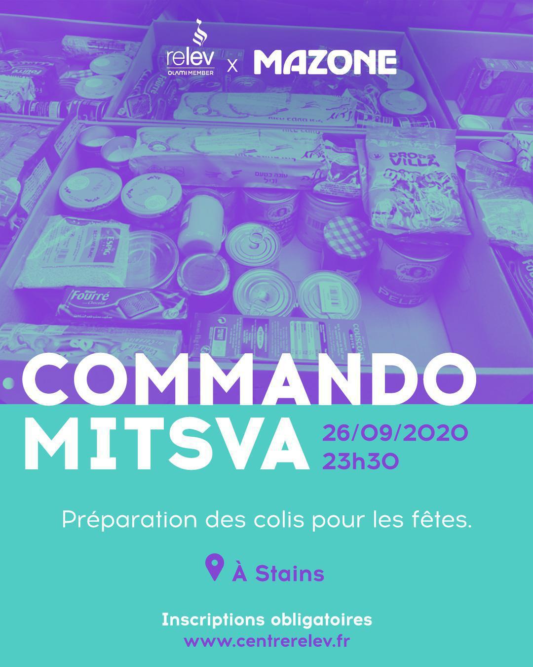 COMMANDO MITSVA x MAZONE - Mission préparation de colis