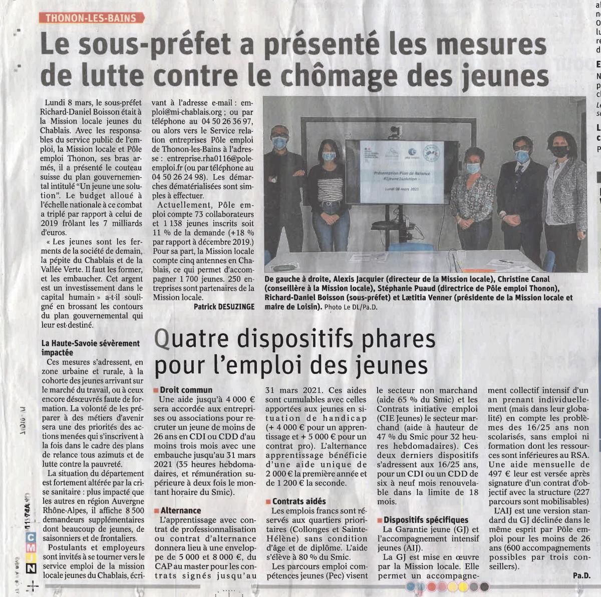 Présentation #1jeune1solution Le Dauphiné