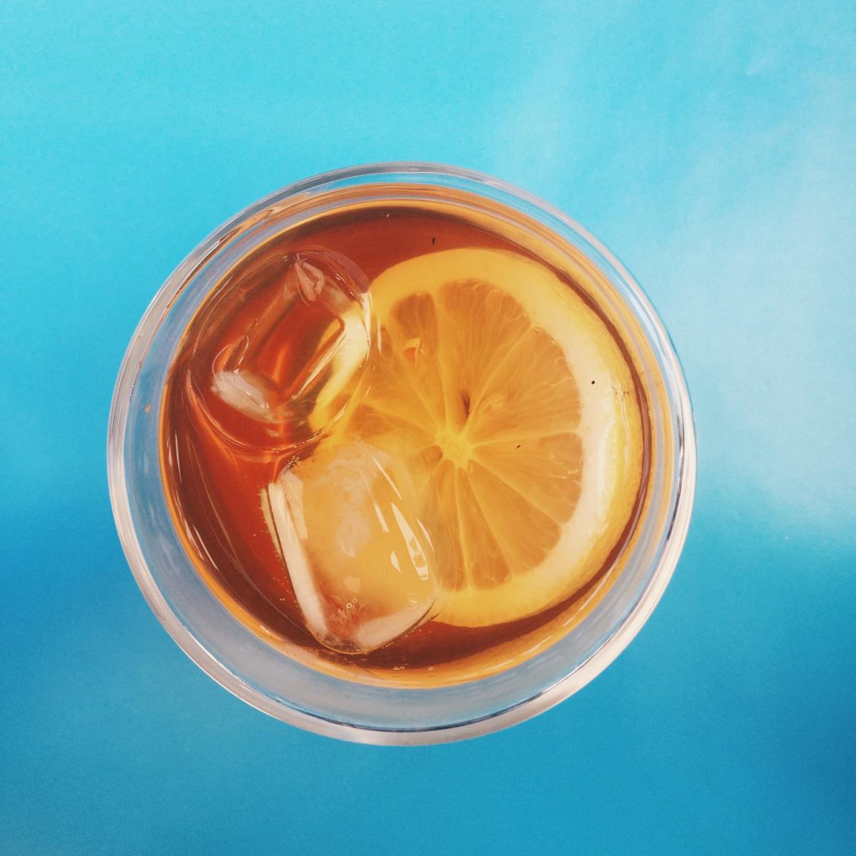 Thé glacé au citron