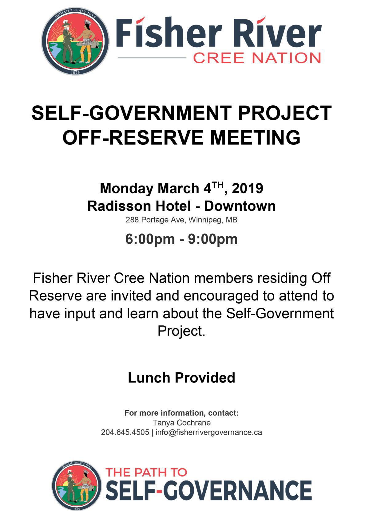 Notice of Off-Reserve Self Governance Meeting