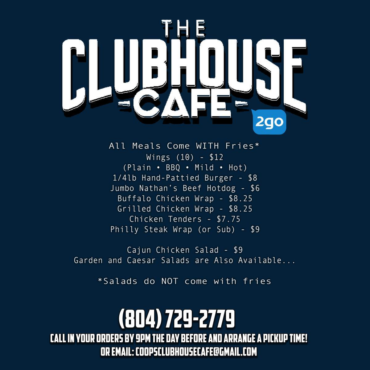 The Clubhouse Cafe 2Go