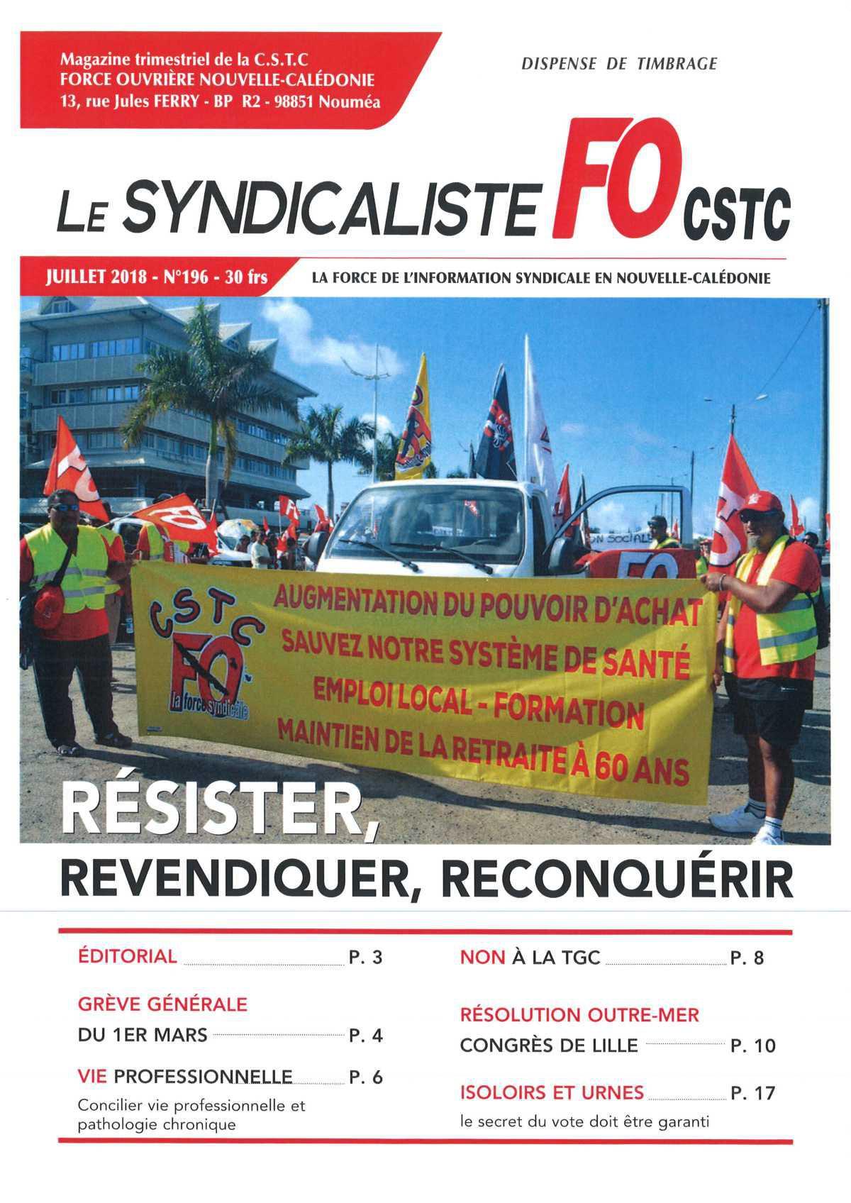 Le Syndicaliste n°196