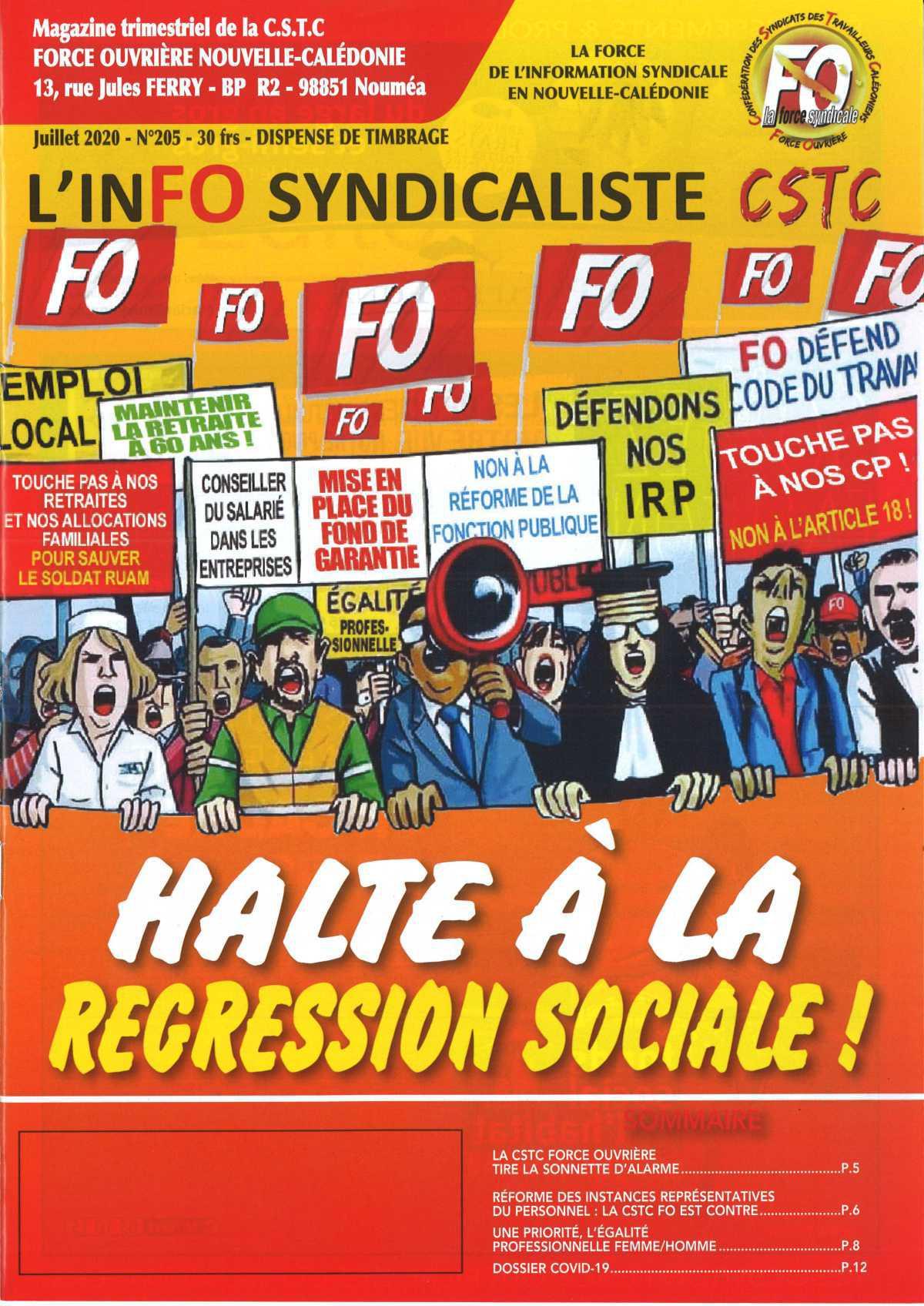 L'inFO SYNDICALISTE n°205