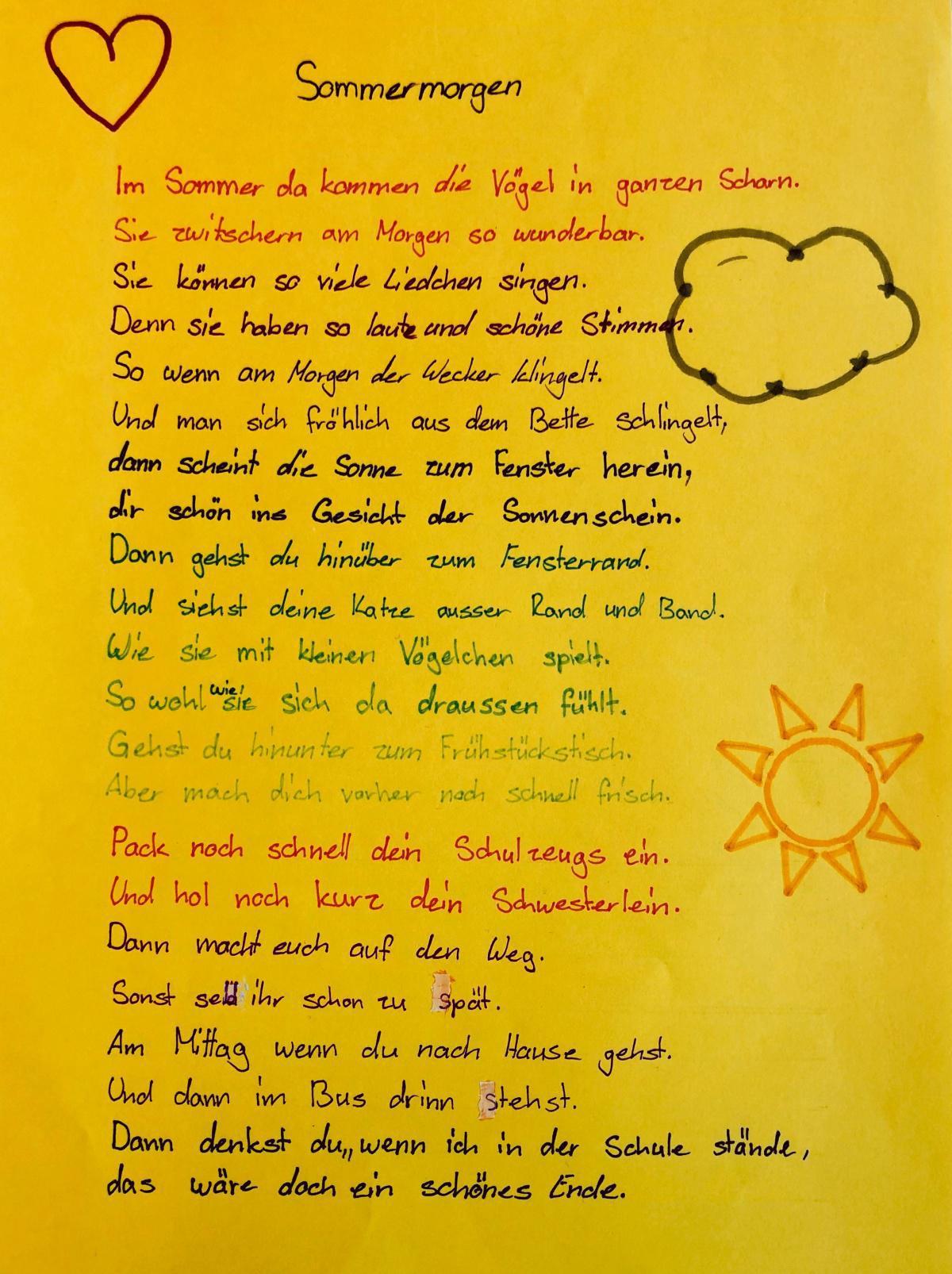 Gedichte der SP1a und 1b