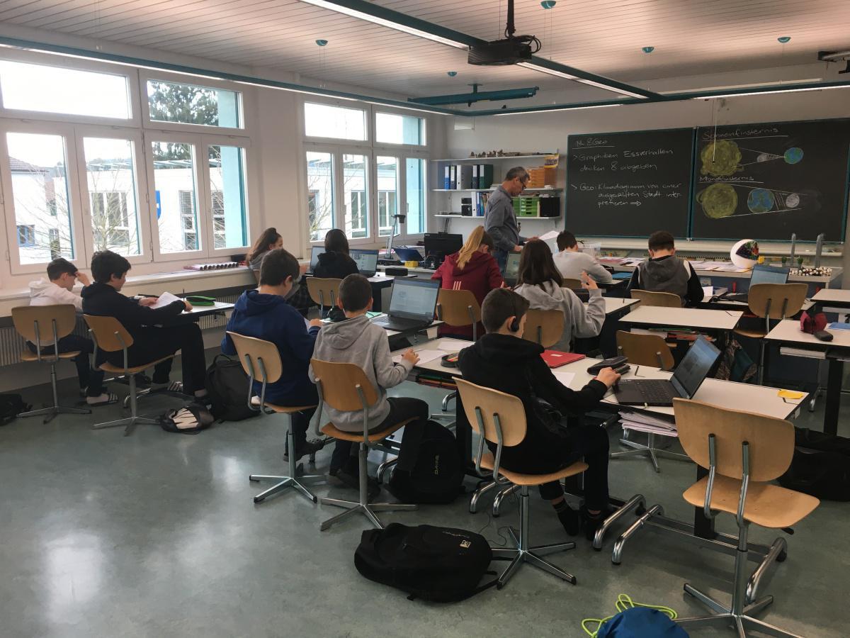 Die Klasse SB1c vom Kreisschulhaus beschäftigt sich mit dem Klimawandel