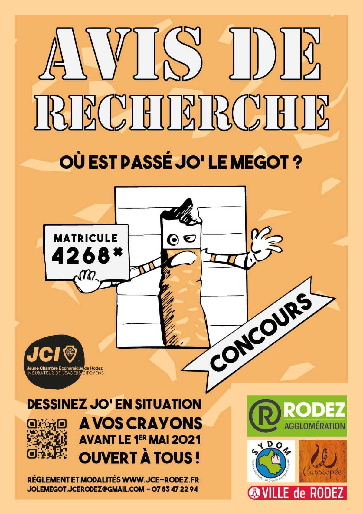 """Concours : """"Avis de recherche: Jo le Mégot"""""""
