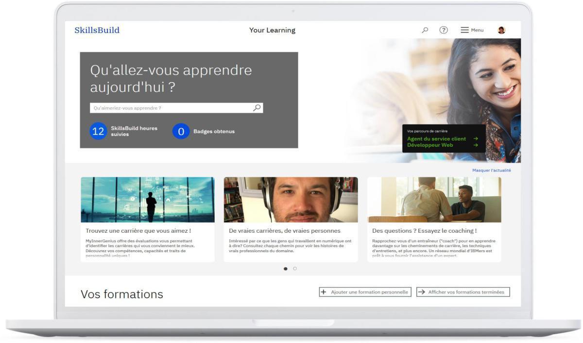 Plateforme de formation gratuite IBM