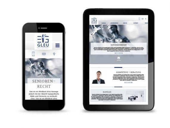 Webseite für Kanzlei Rechtsanwalt Eric Gleu