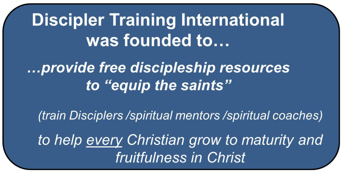 Redefining Discipleship Introduction