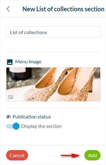 Lista de la sección de colección