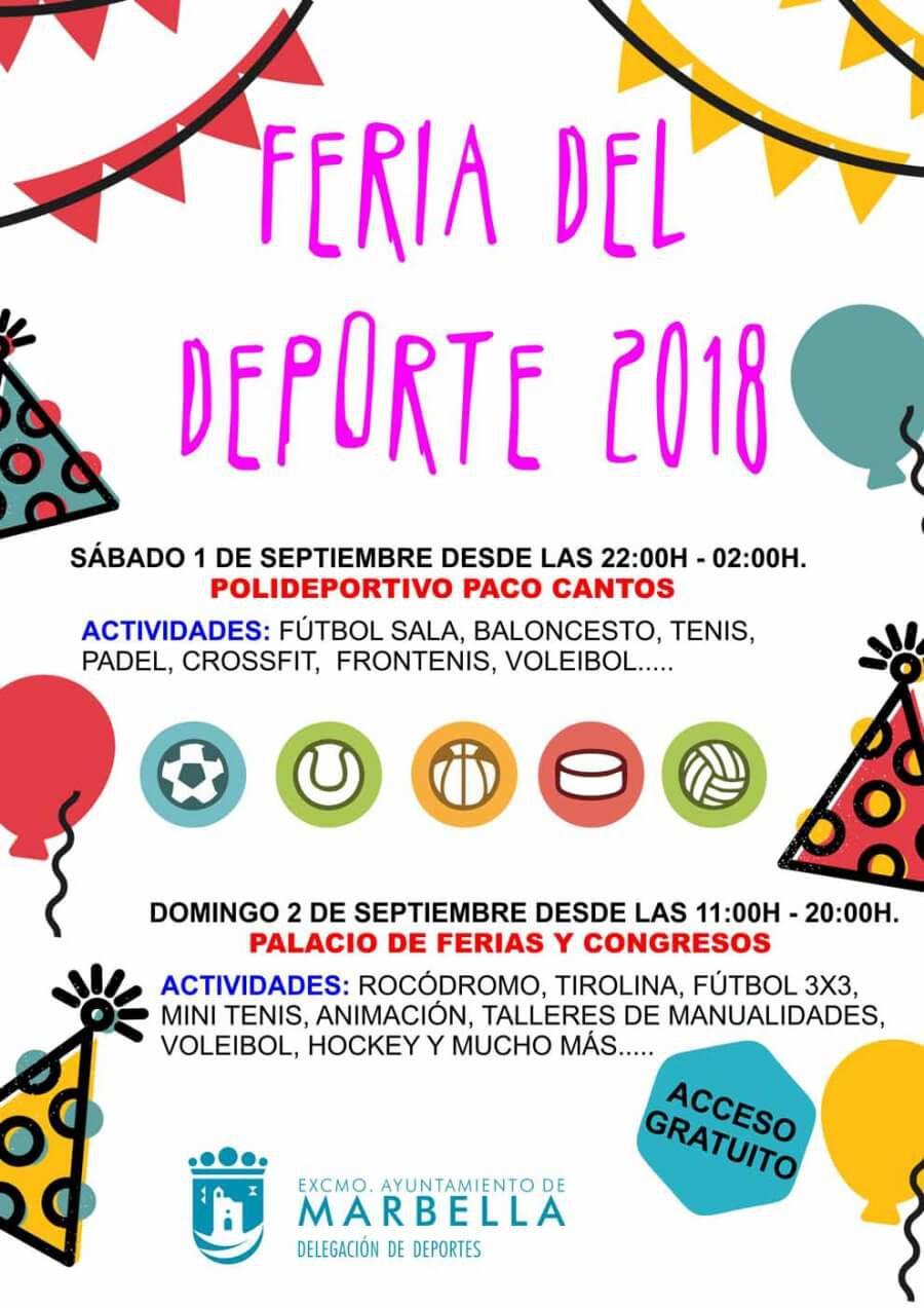 Marbella celebrará la Gala del Deporte por primera vez con una feria específica los días 1 y 2 de septiembre