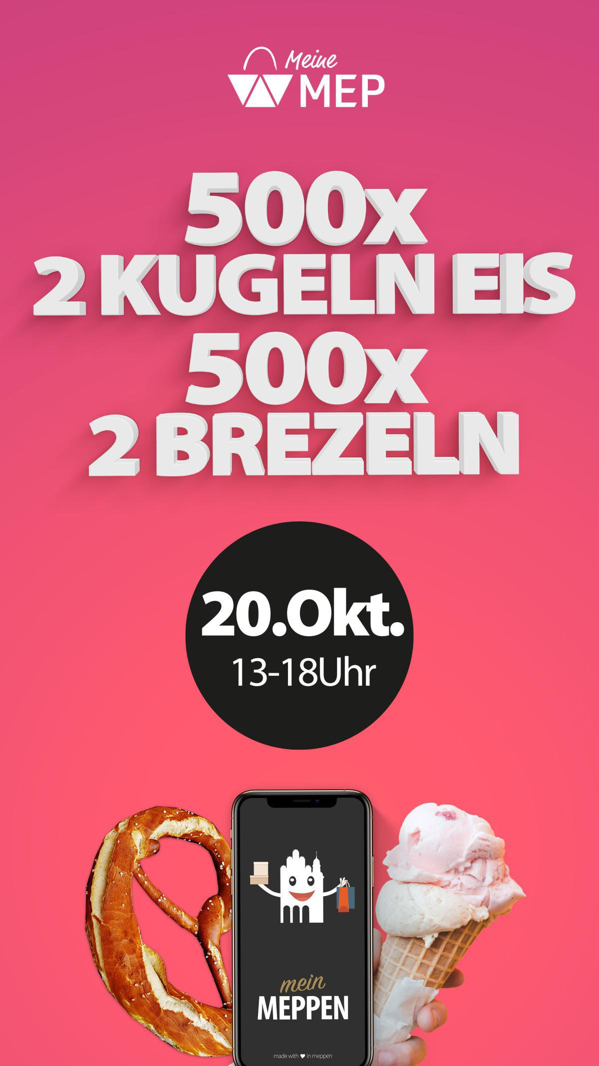 500x Eis & Brezel GRATIS - NUR AM 20.10.