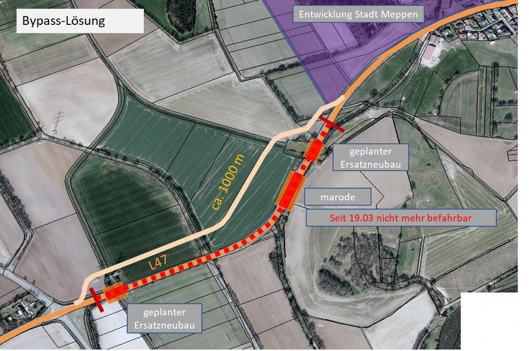 Keine langjährige Sperrung der L 47 – Lambertsbrücken