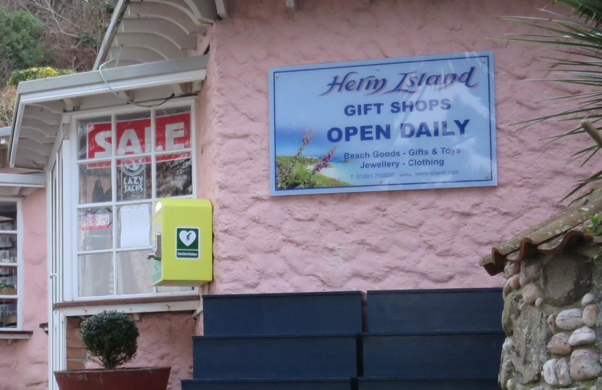 Herm Island Gift Shop AED
