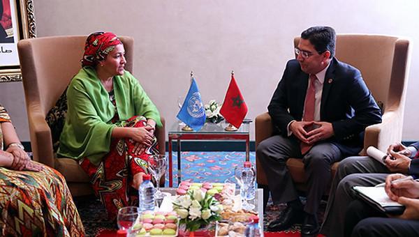 ناصر بوريطة يجري مباحثات بمراكش مع نائبة الأمين العام للأمم المتحدة