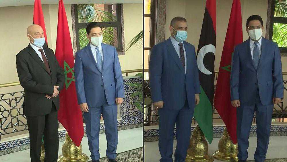 وزير الخارجية المغربي يلتقي في الرباط بمسؤولين ليبيين رفيعي المستوى