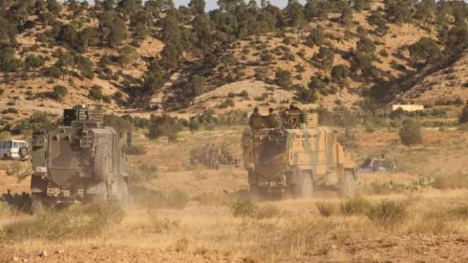 تونس.. إصابة عسكري في انفجار لغم بوسط البلاد