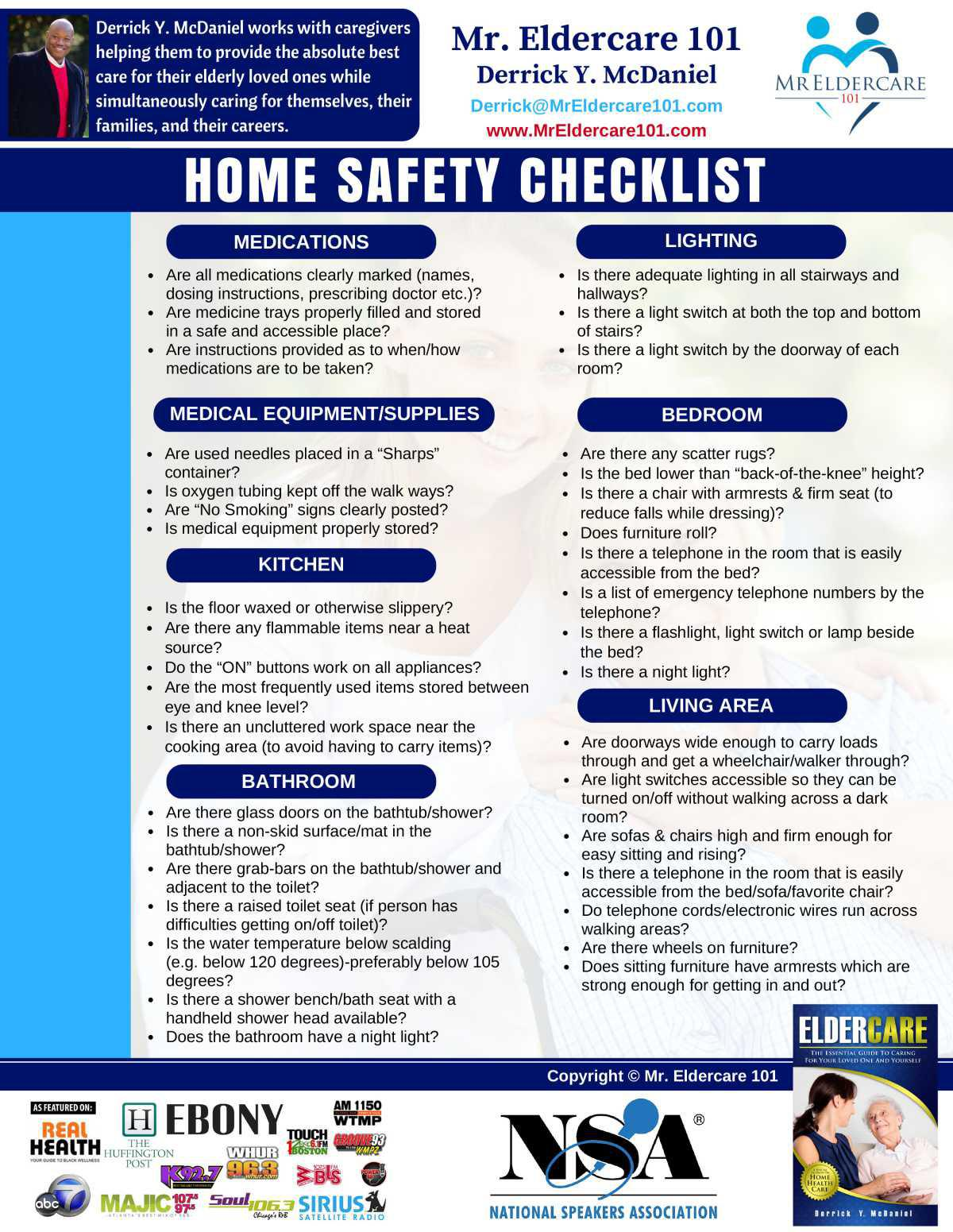 Home Safety Checklist - Back
