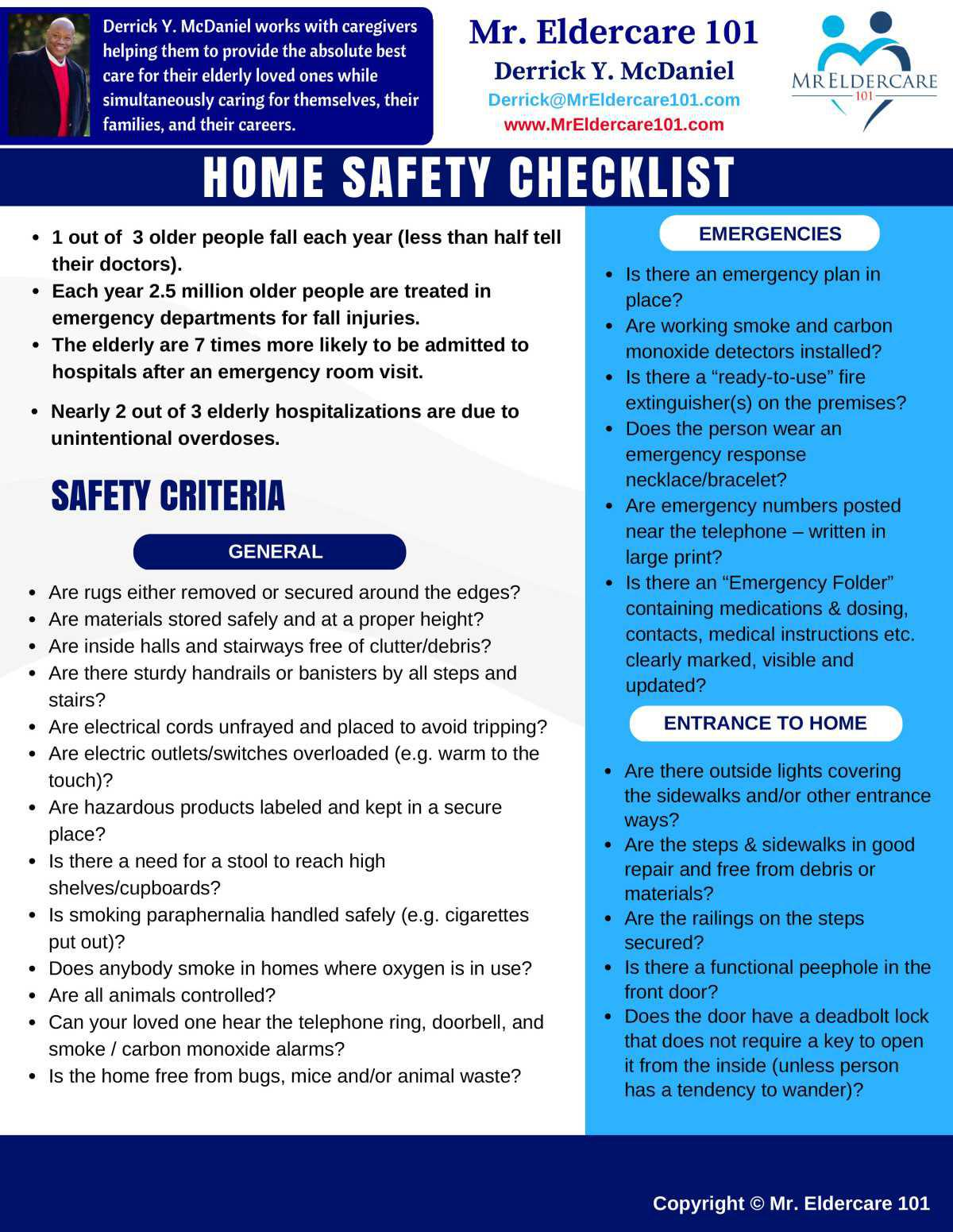 Home Safety Checklist - Front