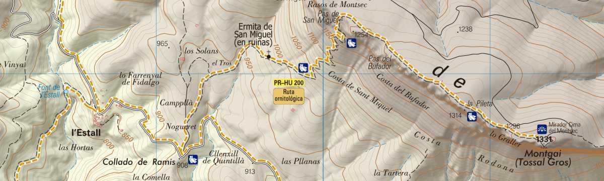 PR-HU 200: Cumbre del Montsec de l'Estall