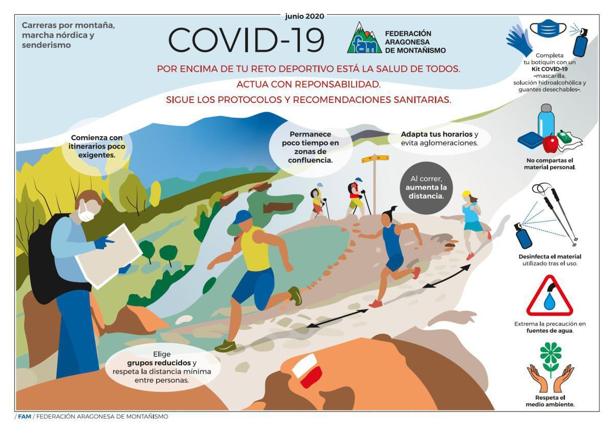 Montañas seguras frente a la COVID-19