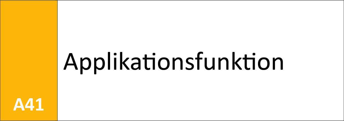 A41 Applikationsfunktion