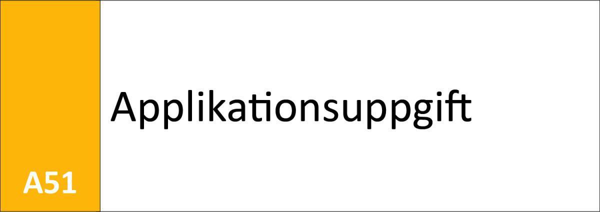 A51 Applikationsuppgift