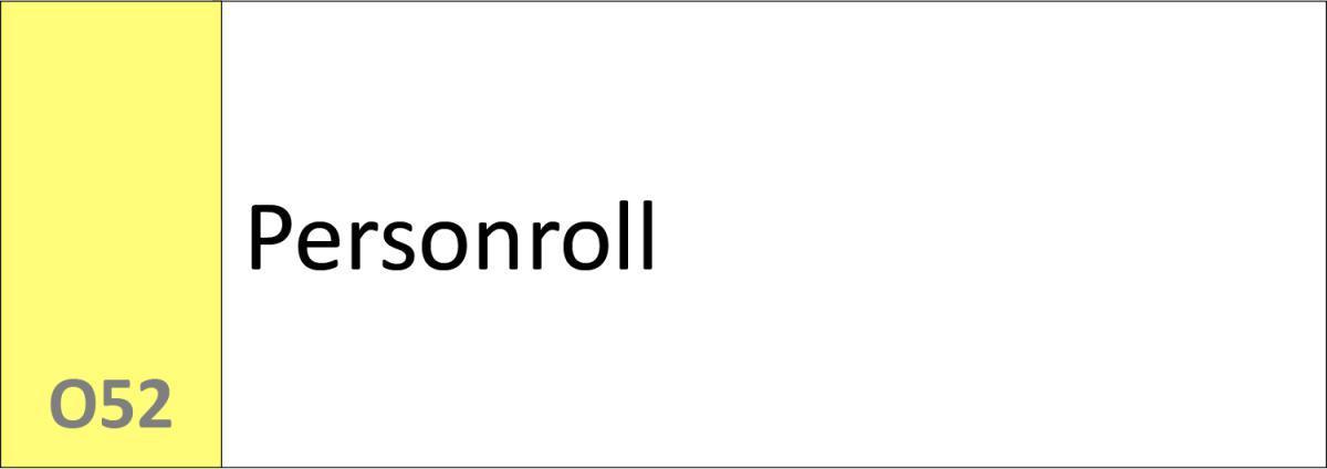 O52 Personroll
