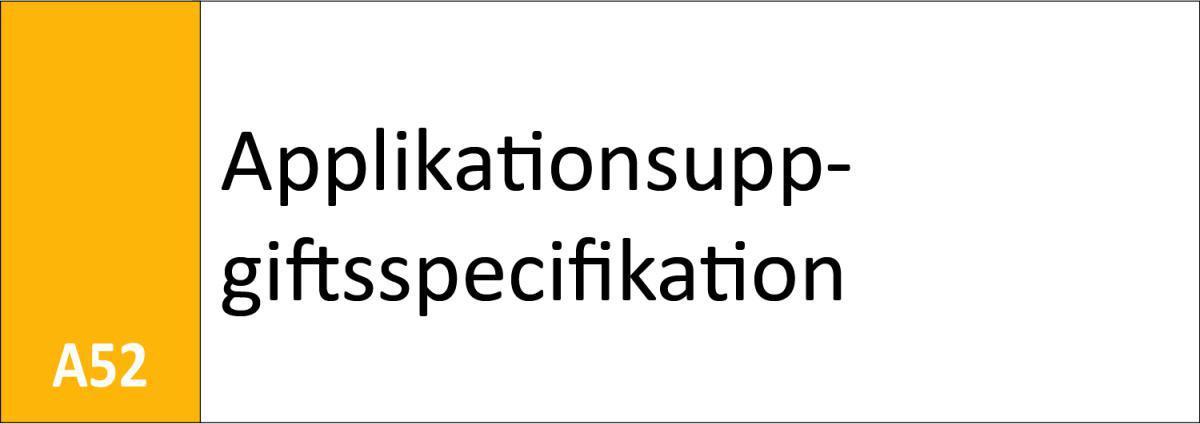 A52 Applikationsuppgiftsspecifikation