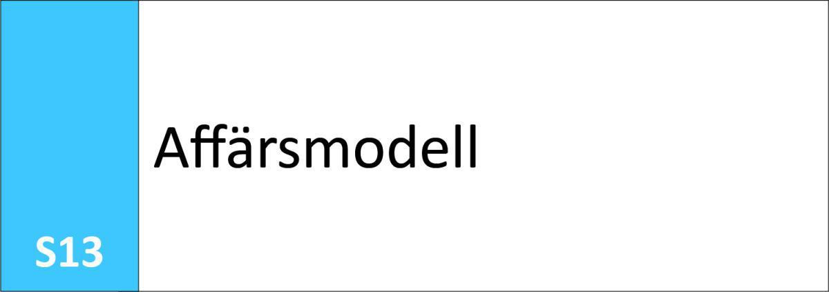 S13 Affärsmodell