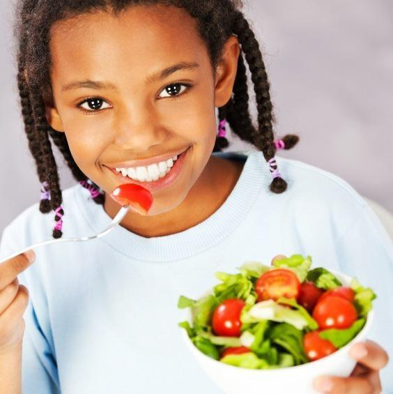 Teaching children how to eat well.