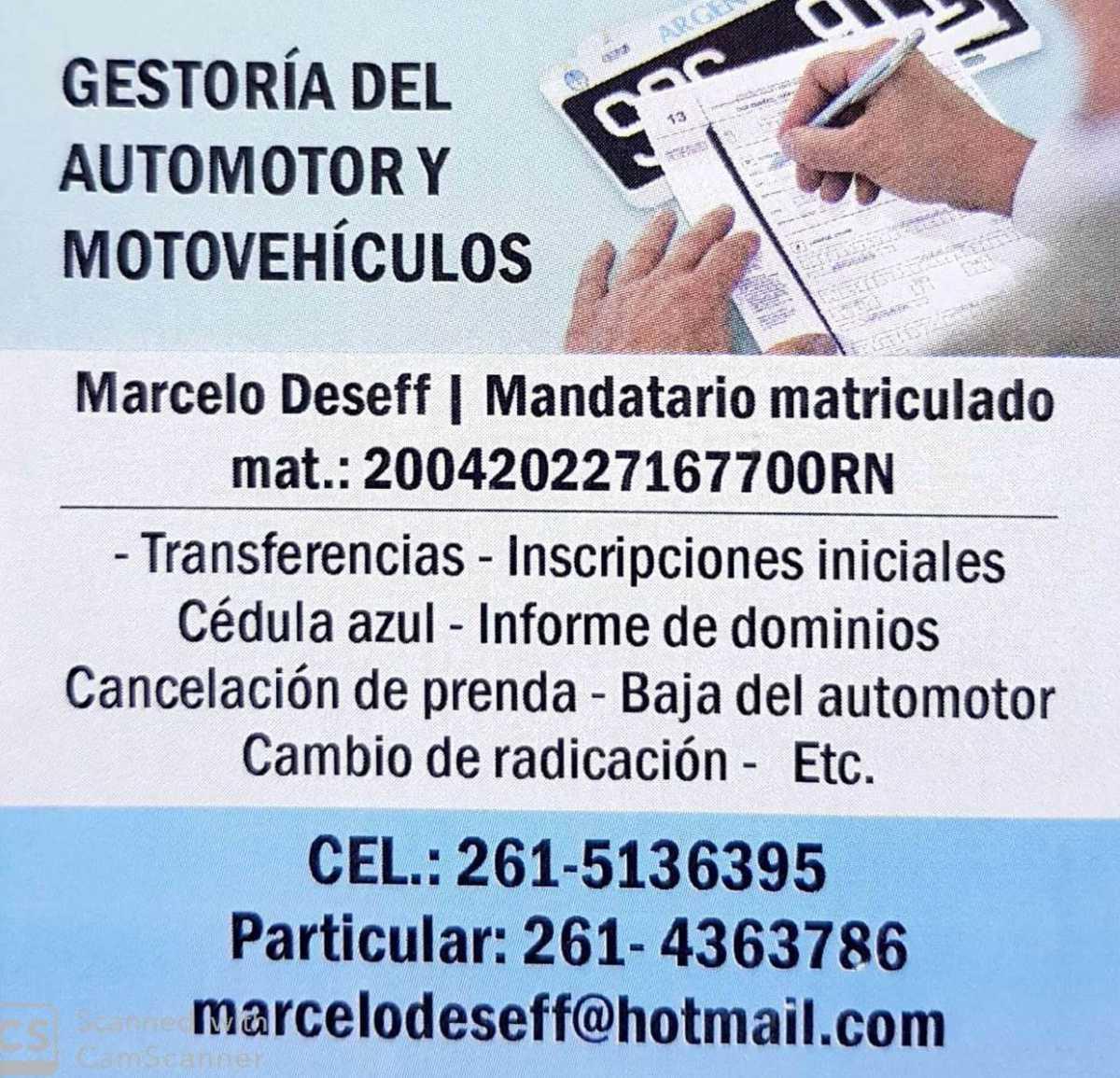 Marcelo Deseff Gestoría del Automotor