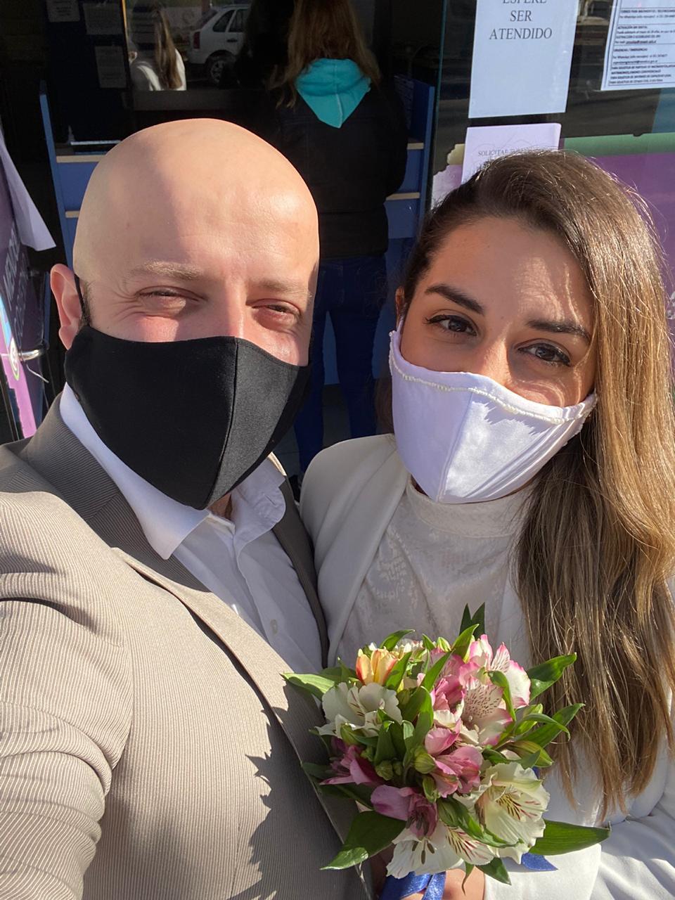 Dos lujaninos protagonizaron una boda virtual