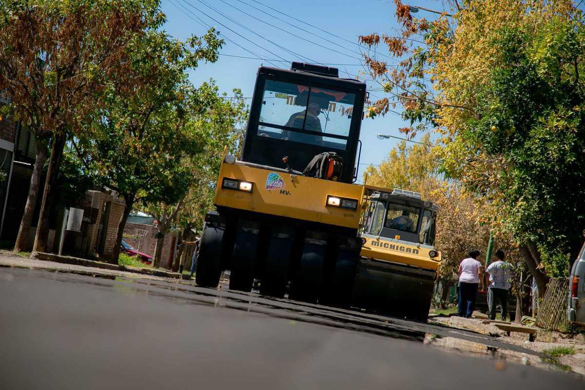 Luján de Cuyo pone en marcha el plan de asfalto más ambicioso de su historia