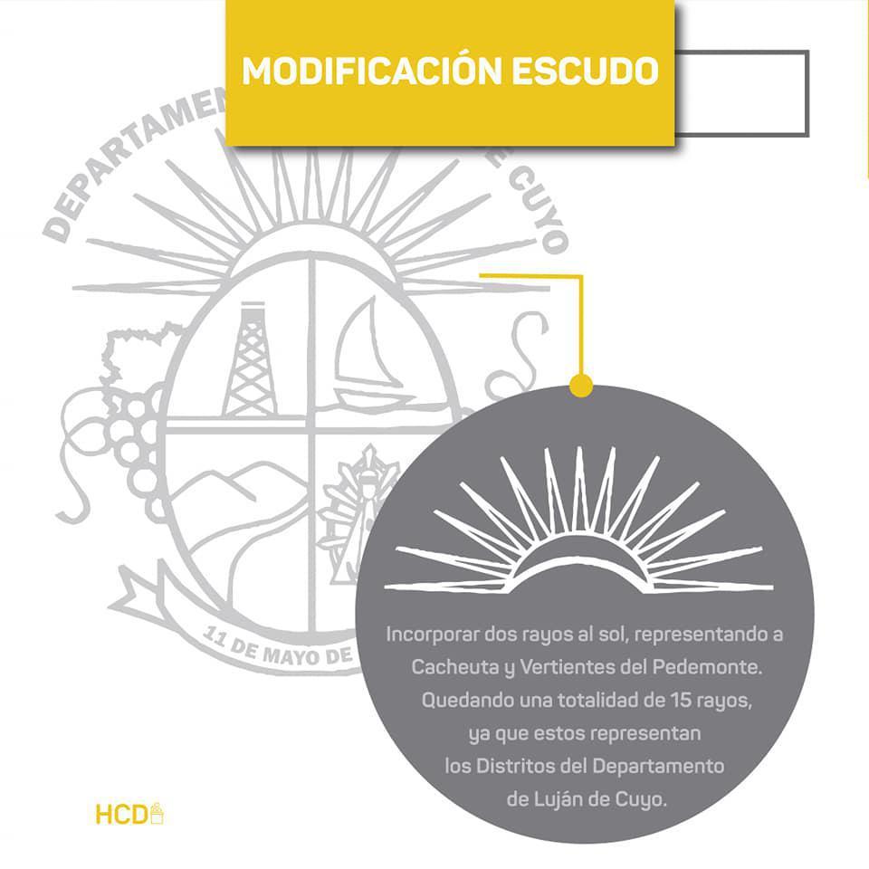 Luján de Cuyo modificará su escudo municipal