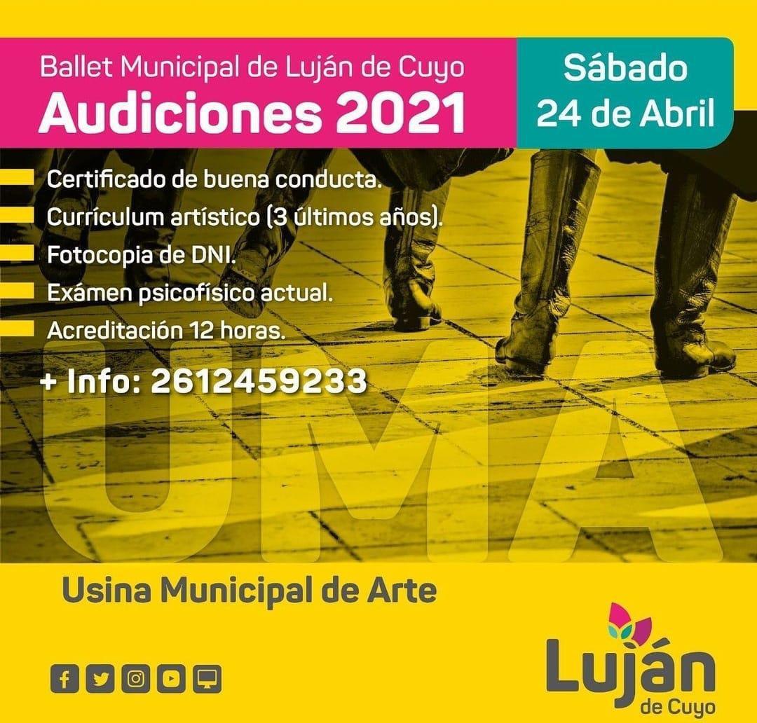 Ya podés sumarte al Ballet Municipal de Luján de Cuyo