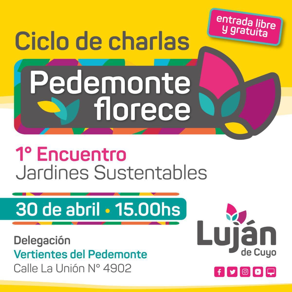"""Comienza """"Pedemonte Florece"""" en Luján de Cuyo"""