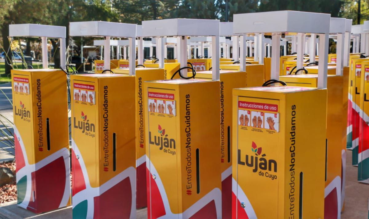 Luján de Cuyo adquirió 100 nuevos sanitizantes automáticos