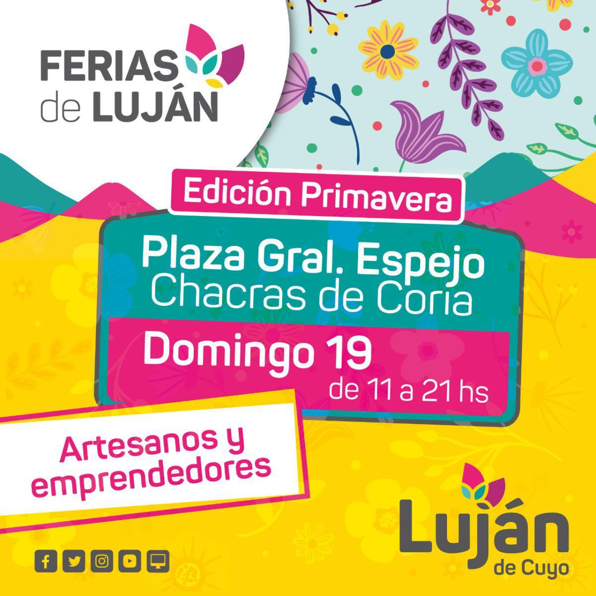 Ferias de Luján: se viene la edición primaveral