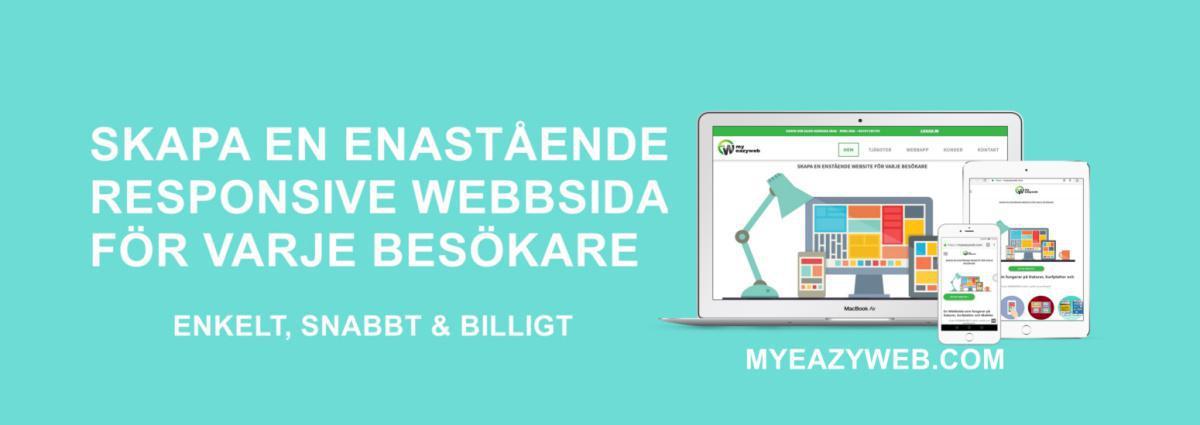 Vi gör WEBBDESIGN enkelt, snabbt och problemfritt.