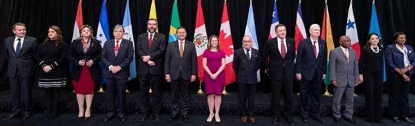 XI Reunión de Ministros de Relaciones Exteriores del Grupo de Lima en Bogotá