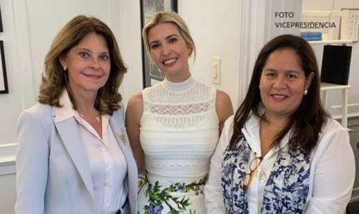 Vicepresidenta dialogó con Ivanka Trump sobre la creación de un Consejo Empresarial de Mujeres de Estados Unidos y de Colombia