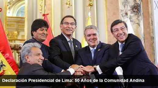 Los 50 años de la Comunidad Andina se celebrarán en Colombia